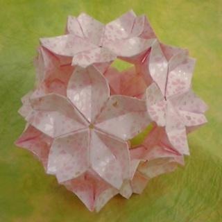 折り紙 花のある多面体│紙舗 ... : 折り紙 ひな人形 折り方 : 折り方