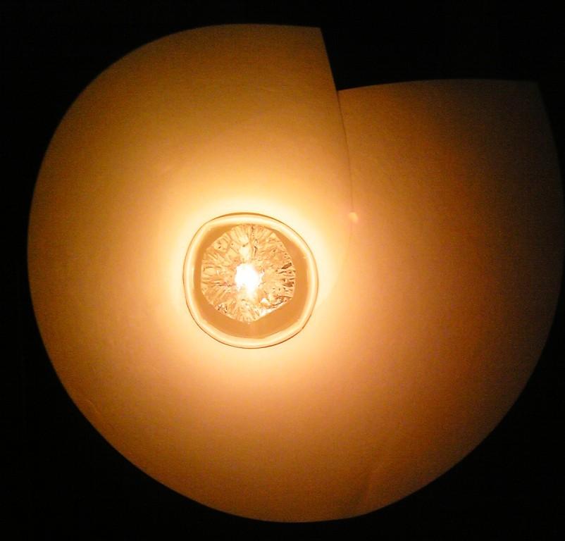 アルミカップの灯明