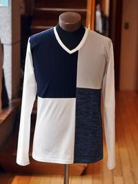 パッチワークロングTシャツ/MEN'S MELROSE(メンズメルローズ)