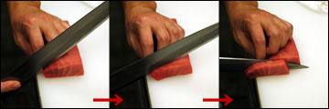 刺身の切り方