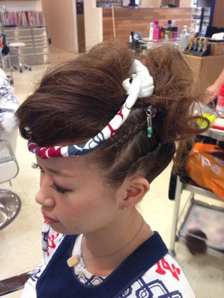 髪型 ショート お祭り